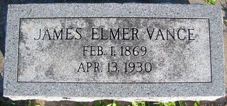 VANCE, JAMES ELMER - Saunders County, Nebraska | JAMES ELMER VANCE - Nebraska Gravestone Photos