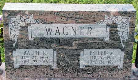 WAGNER, ESTHER M. - Saunders County, Nebraska | ESTHER M. WAGNER - Nebraska Gravestone Photos