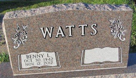 WATTS, BENNY L. - Saunders County, Nebraska   BENNY L. WATTS - Nebraska Gravestone Photos