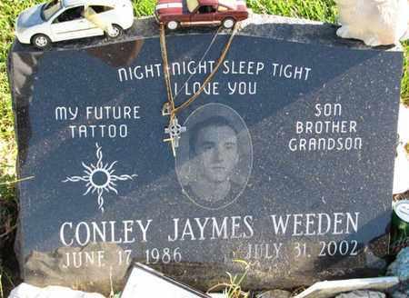 WEEDEN, CONLEY JAYMES - Saunders County, Nebraska   CONLEY JAYMES WEEDEN - Nebraska Gravestone Photos