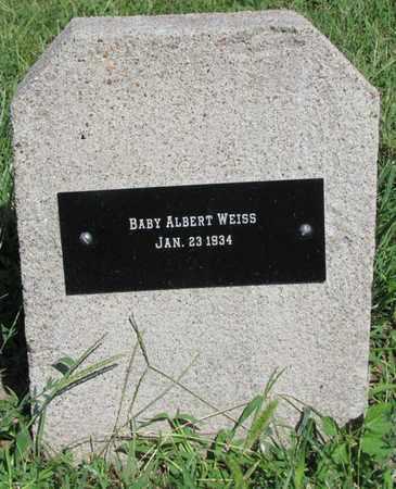 WEISS, ALBERT - Saunders County, Nebraska   ALBERT WEISS - Nebraska Gravestone Photos