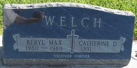 WELCH, BERYL MAX - Saunders County, Nebraska | BERYL MAX WELCH - Nebraska Gravestone Photos