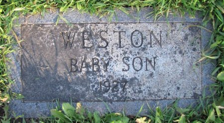WESTON, (BABY SON) - Saunders County, Nebraska | (BABY SON) WESTON - Nebraska Gravestone Photos