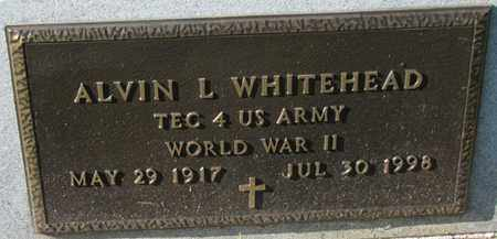 WHITEHEAD, ALVIN L. (MILITARY MARKER) - Saunders County, Nebraska   ALVIN L. (MILITARY MARKER) WHITEHEAD - Nebraska Gravestone Photos