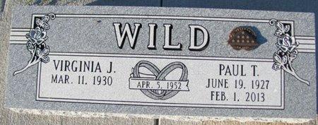 WILD, PAUL T. - Saunders County, Nebraska   PAUL T. WILD - Nebraska Gravestone Photos
