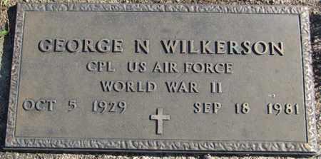 WILKERSON, GEORGE N. - Saunders County, Nebraska   GEORGE N. WILKERSON - Nebraska Gravestone Photos