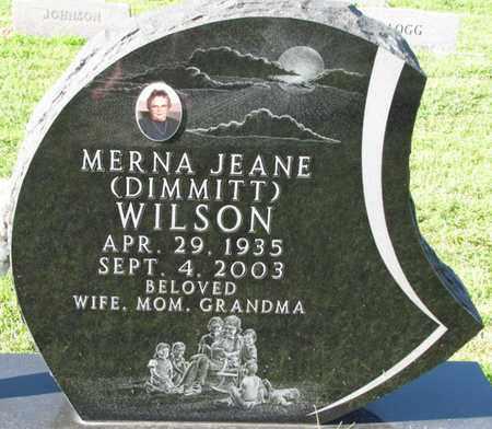 DIMMITT WILSON, MERNA JEANE - Saunders County, Nebraska | MERNA JEANE DIMMITT WILSON - Nebraska Gravestone Photos