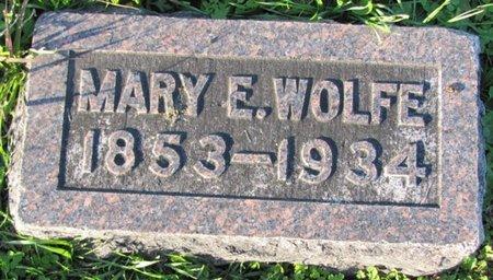 WOLFE, MARY E. - Saunders County, Nebraska | MARY E. WOLFE - Nebraska Gravestone Photos