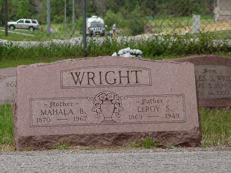 WRIGHT, LEROY SINGLETON - Saunders County, Nebraska | LEROY SINGLETON WRIGHT - Nebraska Gravestone Photos