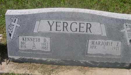 YERGER, MARJORIE J. - Saunders County, Nebraska   MARJORIE J. YERGER - Nebraska Gravestone Photos