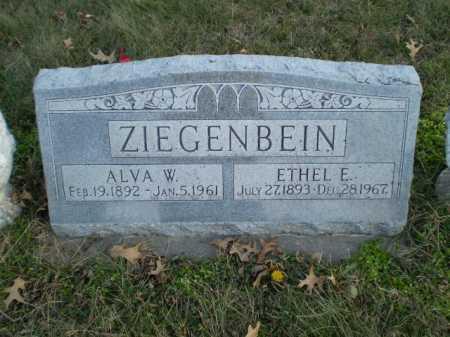 ZIEGENBEIN, ALVA W - Saunders County, Nebraska   ALVA W ZIEGENBEIN - Nebraska Gravestone Photos