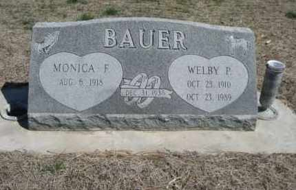 BAUER, MONICA F. - Scotts Bluff County, Nebraska | MONICA F. BAUER - Nebraska Gravestone Photos