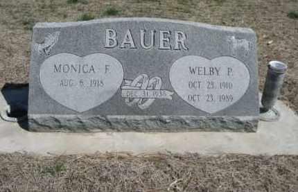 BAUER, WELBY P. - Scotts Bluff County, Nebraska   WELBY P. BAUER - Nebraska Gravestone Photos