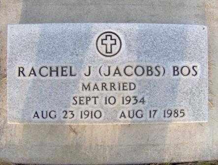 BOS, RACHEL J - Scotts Bluff County, Nebraska | RACHEL J BOS - Nebraska Gravestone Photos