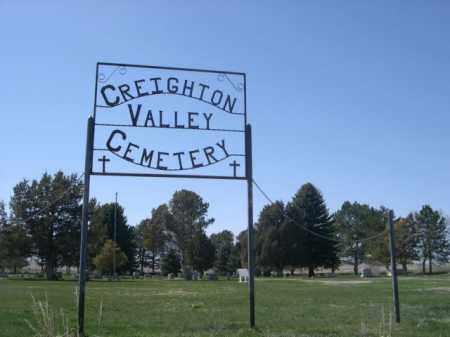 *CREIGTHTON VALLEY CEMETERY, SIGN FOR - Scotts Bluff County, Nebraska | SIGN FOR *CREIGTHTON VALLEY CEMETERY - Nebraska Gravestone Photos