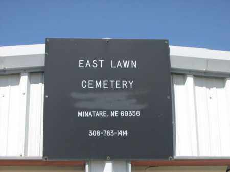 *EAST LAWN CEMETERY, SIGN FOR - Scotts Bluff County, Nebraska | SIGN FOR *EAST LAWN CEMETERY - Nebraska Gravestone Photos