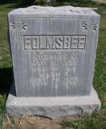 FOLMSBEE, MARY E. - Scotts Bluff County, Nebraska   MARY E. FOLMSBEE - Nebraska Gravestone Photos
