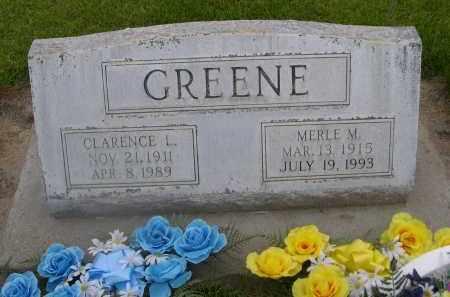 GREENE, CLARENCE L. - Scotts Bluff County, Nebraska | CLARENCE L. GREENE - Nebraska Gravestone Photos