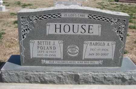POLAND HOUSE, BETTIE J. - Scotts Bluff County, Nebraska | BETTIE J. POLAND HOUSE - Nebraska Gravestone Photos