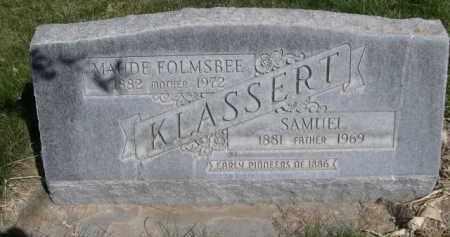 FOLMSBEE KLASSERT, MAUDE - Scotts Bluff County, Nebraska | MAUDE FOLMSBEE KLASSERT - Nebraska Gravestone Photos
