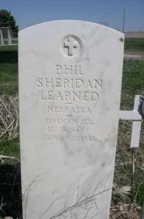 LEARNED, PHIL SHERIDAN - Scotts Bluff County, Nebraska | PHIL SHERIDAN LEARNED - Nebraska Gravestone Photos