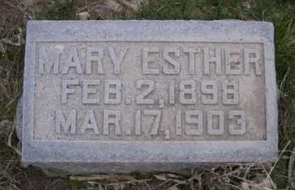 LEE, MARY ESTHER - Scotts Bluff County, Nebraska | MARY ESTHER LEE - Nebraska Gravestone Photos