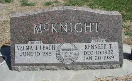 MCKNIGHT, KENNETH T. - Scotts Bluff County, Nebraska | KENNETH T. MCKNIGHT - Nebraska Gravestone Photos