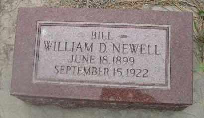 NEWELL, WILLIAM D. - Scotts Bluff County, Nebraska | WILLIAM D. NEWELL - Nebraska Gravestone Photos