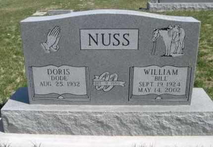 "NUSS, WILLIAM ""BILL"" - Scotts Bluff County, Nebraska | WILLIAM ""BILL"" NUSS - Nebraska Gravestone Photos"