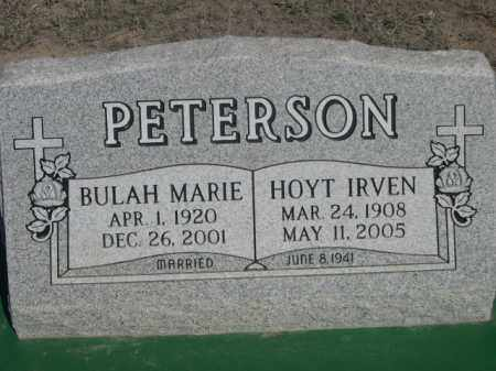 PETERSON, HOYT IRVEN - Scotts Bluff County, Nebraska | HOYT IRVEN PETERSON - Nebraska Gravestone Photos