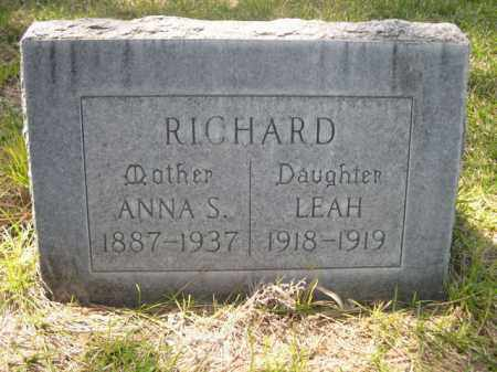 RICHARD, ANNA S. - Scotts Bluff County, Nebraska | ANNA S. RICHARD - Nebraska Gravestone Photos