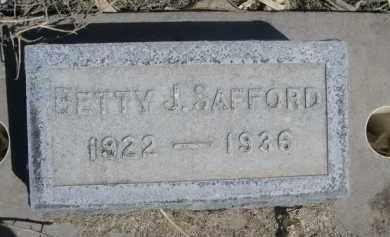 SAFFORD, BETTY J. - Scotts Bluff County, Nebraska | BETTY J. SAFFORD - Nebraska Gravestone Photos