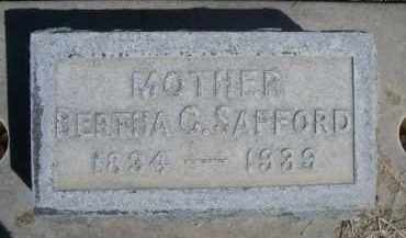 SAFFORD, BERTHA C. - Scotts Bluff County, Nebraska | BERTHA C. SAFFORD - Nebraska Gravestone Photos