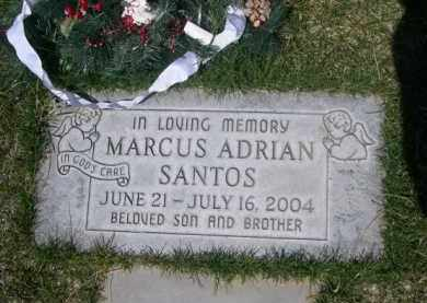 SANTOS, MARCUS ADRIAN - Scotts Bluff County, Nebraska | MARCUS ADRIAN SANTOS - Nebraska Gravestone Photos