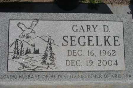 SEGELKE, GARY D. - Scotts Bluff County, Nebraska | GARY D. SEGELKE - Nebraska Gravestone Photos
