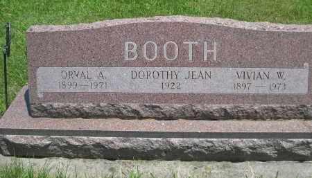BOOTH, ORVAL A. - Seward County, Nebraska | ORVAL A. BOOTH - Nebraska Gravestone Photos