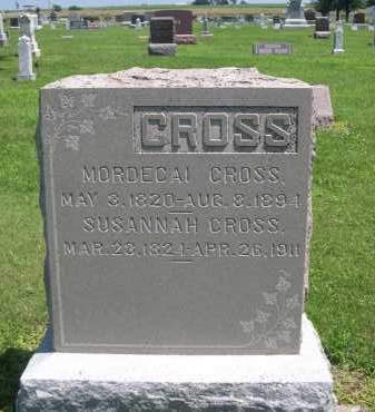 CROSS, SUSNNAH - Seward County, Nebraska | SUSNNAH CROSS - Nebraska Gravestone Photos