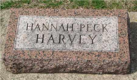 PECK HARVEY, HANNAH - Seward County, Nebraska | HANNAH PECK HARVEY - Nebraska Gravestone Photos