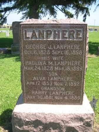 LAMPHERE, PAULINA M. - Seward County, Nebraska | PAULINA M. LAMPHERE - Nebraska Gravestone Photos