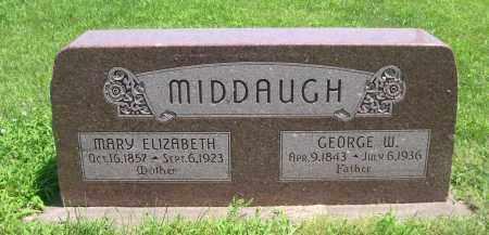 MIDDAUGH, MARY ELIZABETH - Seward County, Nebraska | MARY ELIZABETH MIDDAUGH - Nebraska Gravestone Photos
