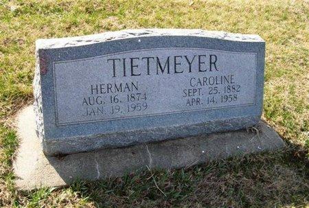 TIETMEYER, CAROLINE - Seward County, Nebraska | CAROLINE TIETMEYER - Nebraska Gravestone Photos