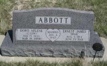 LULOW ABBOTT, DORIS ARLENE - Sheridan County, Nebraska   DORIS ARLENE LULOW ABBOTT - Nebraska Gravestone Photos
