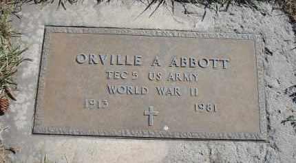 ABBOTT, ORVILLE A. - Sheridan County, Nebraska   ORVILLE A. ABBOTT - Nebraska Gravestone Photos