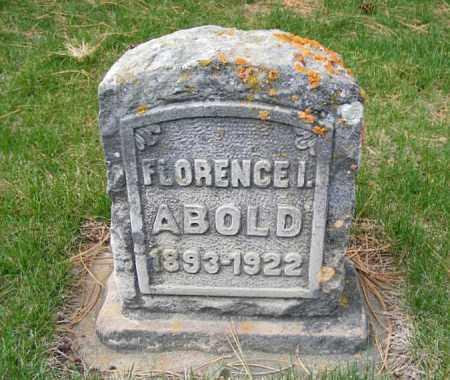 ABOLD, FLORENCE I. - Sheridan County, Nebraska | FLORENCE I. ABOLD - Nebraska Gravestone Photos
