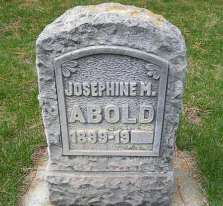 ABOLD, JOSEPHINE M. - Sheridan County, Nebraska | JOSEPHINE M. ABOLD - Nebraska Gravestone Photos