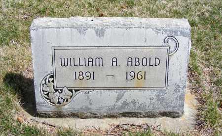 ABOLD, WILLIAM A.  SR. - Sheridan County, Nebraska | WILLIAM A.  SR. ABOLD - Nebraska Gravestone Photos