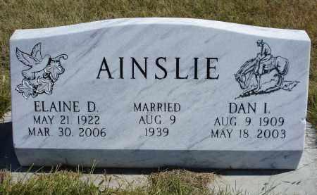 AINSLIE, DAN I. - Sheridan County, Nebraska | DAN I. AINSLIE - Nebraska Gravestone Photos