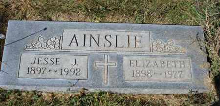 AINSLIE, ELIZABETH - Sheridan County, Nebraska | ELIZABETH AINSLIE - Nebraska Gravestone Photos