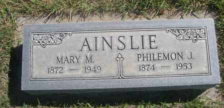 AINSLIE, PHILEMON J. - Sheridan County, Nebraska | PHILEMON J. AINSLIE - Nebraska Gravestone Photos