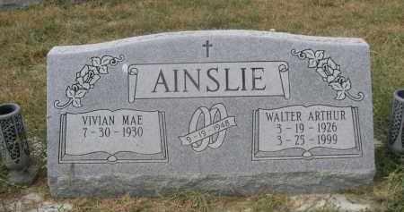 AINSLIE, WALTER ARTHUR - Sheridan County, Nebraska | WALTER ARTHUR AINSLIE - Nebraska Gravestone Photos